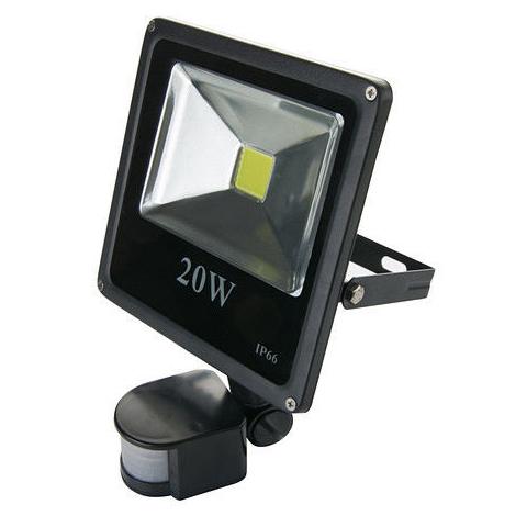 LED Reflektor GreenEnergy 20W studená Senzor Pohybu