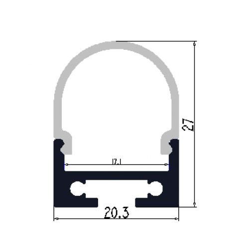 Hliníkový profil 2M pro LED pásek H-016 stropní závěsný