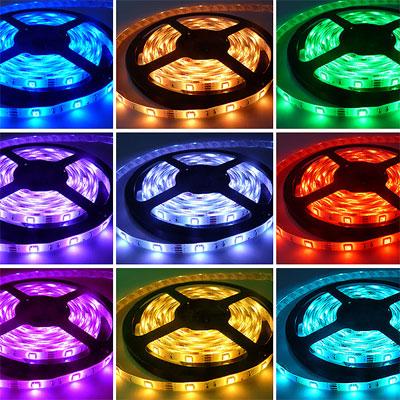 EcoLed LED pásek 1M, RGB, 60 led, SMD5050 nevodotěsný, METRÁŽ