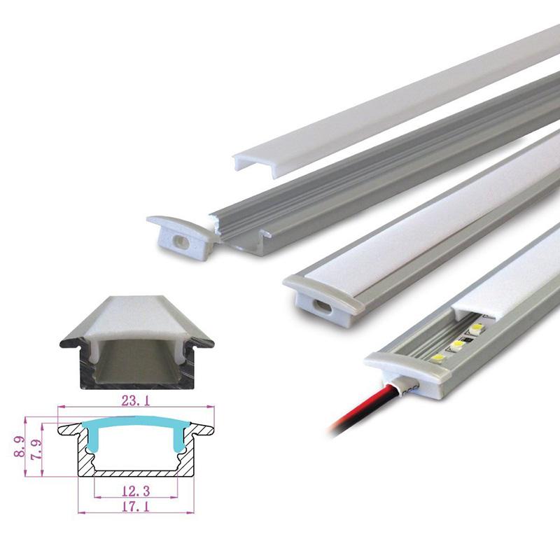 Hliníkový profil 2M pro LED pásek H-001 k zafrézování