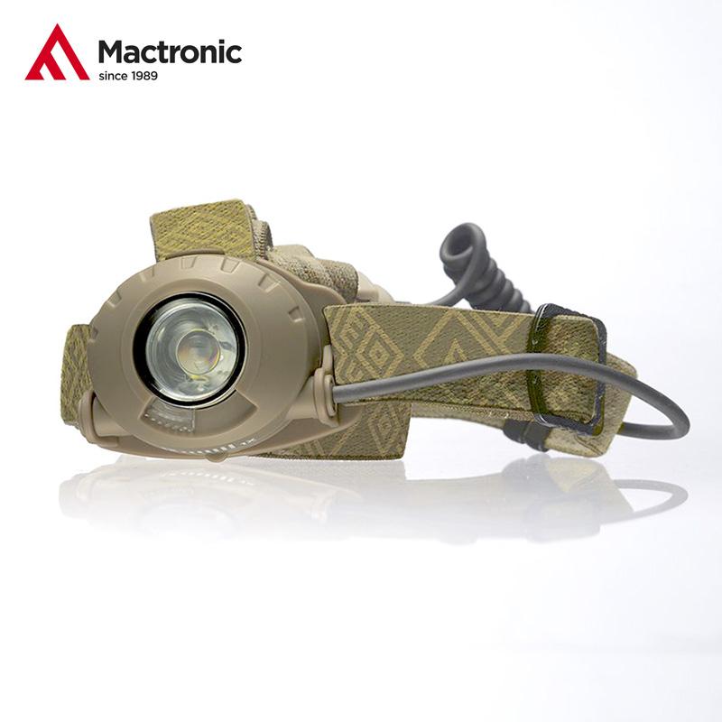 MacTronic Camo čelovka 300lm (3x AA)