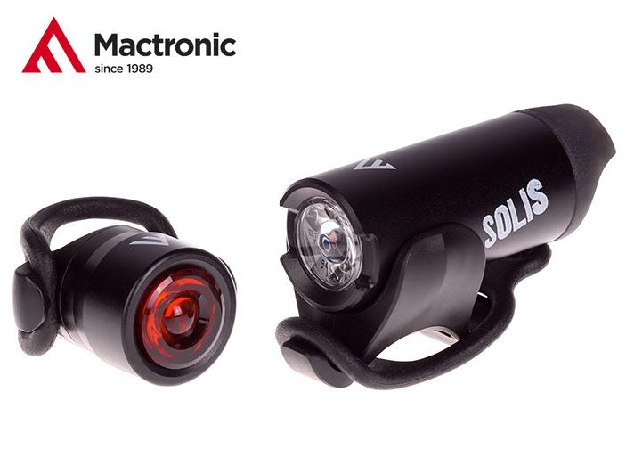 Mactronic SOLIS přední a zadní světlo na kolo USB