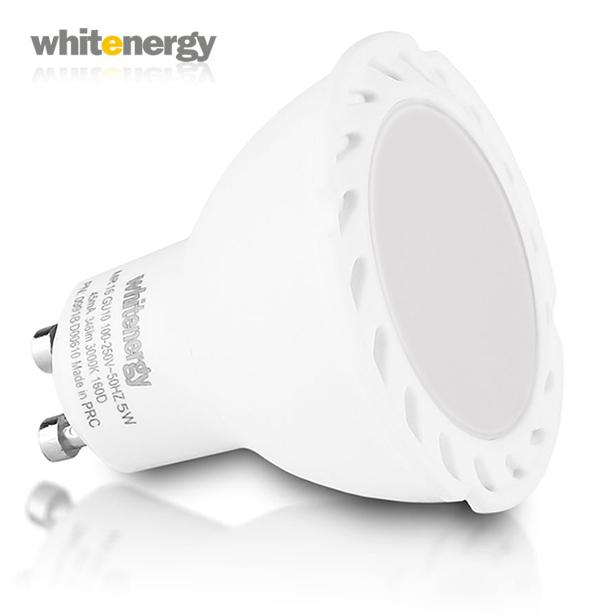 WhitEnergy GU10 5W 346lm 100° Wide teplá