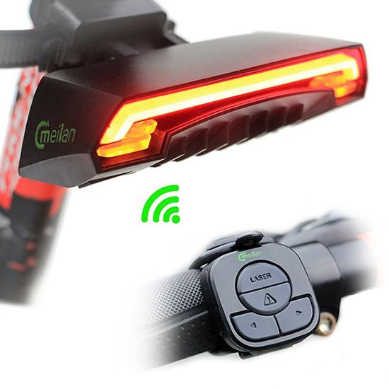 Meilan X5 zadní cyklosvětlo s blinkry LED/LASER