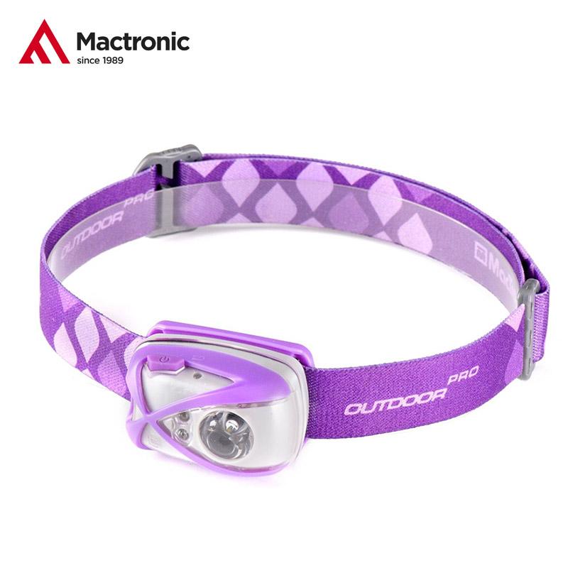 MacTronic Luna čelovka 140lm (3x AAA) violet