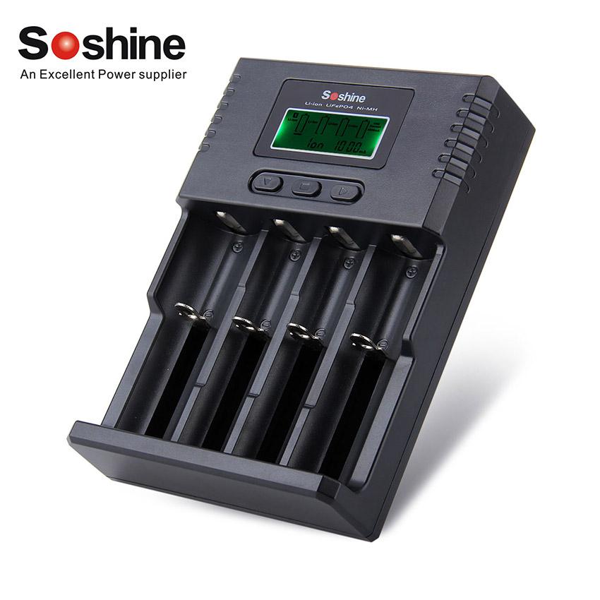 Nabíječka Soshine H4 LCD