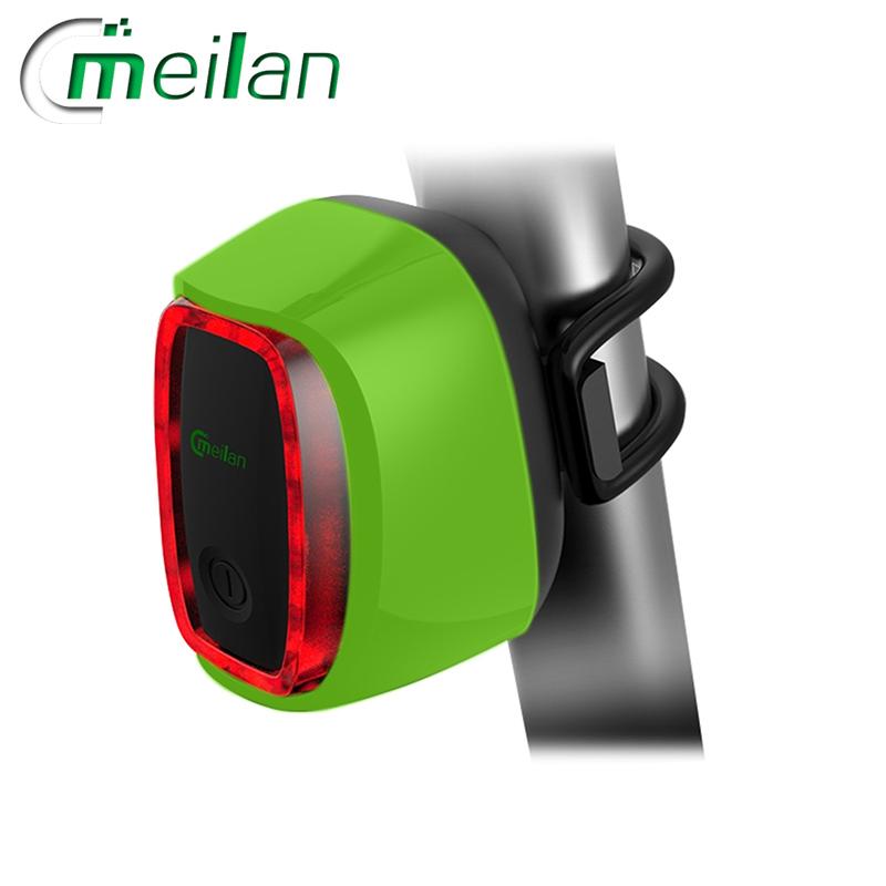 Meilan X6 inteligentní zadní světlo na kolo (Green)