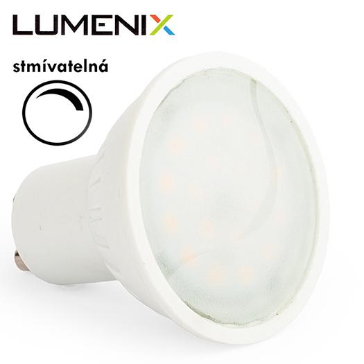 LumeniX GU10 8W 750lm STMÍVATELNÁ studená bílá