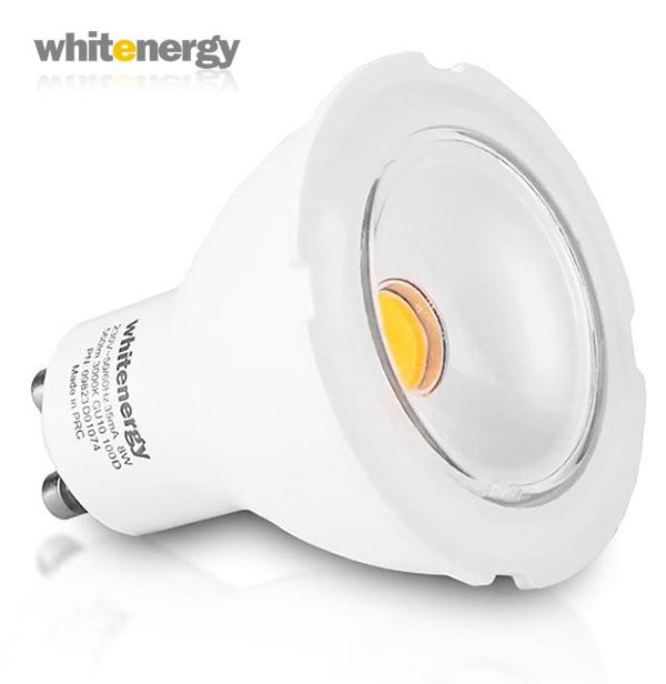 WhitEnergy GU10 8W 560lm 100° Wide teplá