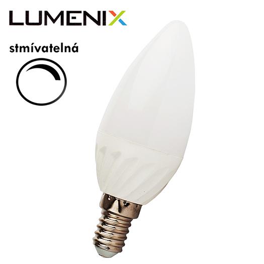 LumeniX E14 8W 750lm STMÍVATELNÁ teplá bílá