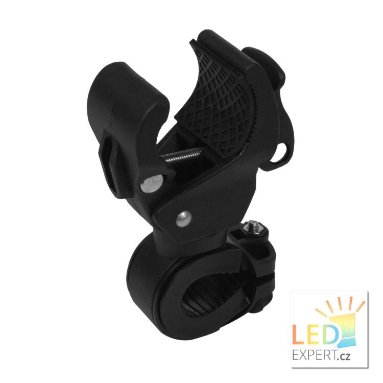 Držák na kolo pro LED svítilny otočný MAXI