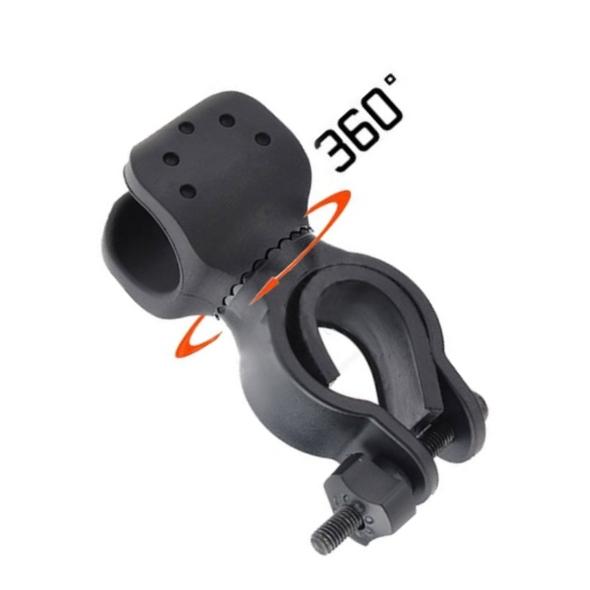 Držák na kolo pro LED svítilny otočný B