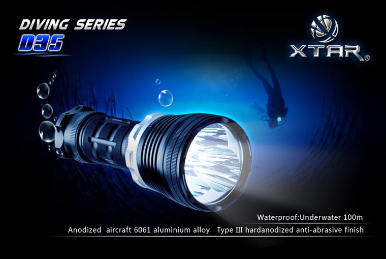 Xtar D35 Potápěčská LED svítilna KOMPLETNÍ SADA