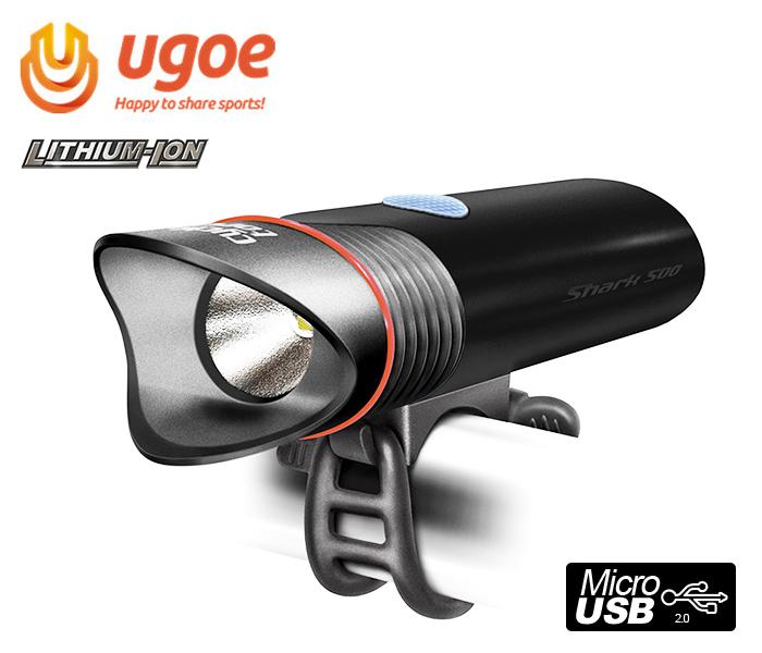 Ugoe Shark NB500 USB cyklosvítilna dobíjecí