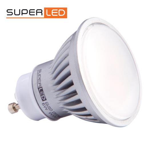 SuperLed GU10 6W 550lm teplá bílá