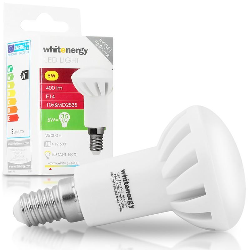 WhitEnergy E14 5W SMD2835 R50 reflektorová teplá