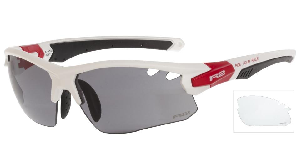 Sportovní brýle R2 CROWN bílé Polarized AT078A