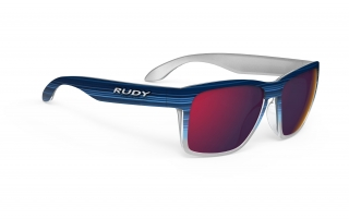 Rudy Project SPINHAWK Blue Streaked M. - Polar 3FX HDR Multilaser Red